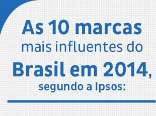 Ipsos revela as 10 marcas que fazem a cabeça dos brasileiros