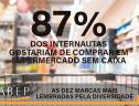 87% dos internautas gostariam de comprar em supermercado sem caixa